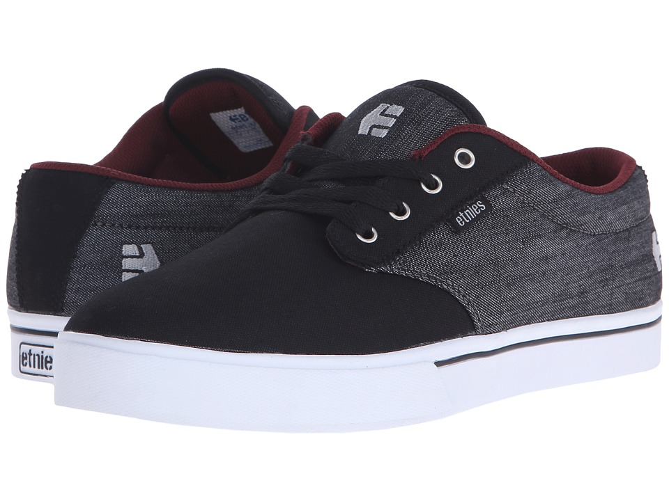 etnies - Jameson 2 Eco (Black/Red/Black) Men's Skate Shoes