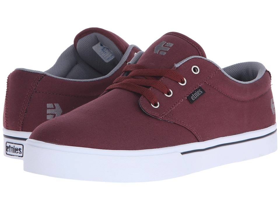 etnies - Jameson 2 Eco (Red/Grey/Black) Men's Skate Shoes
