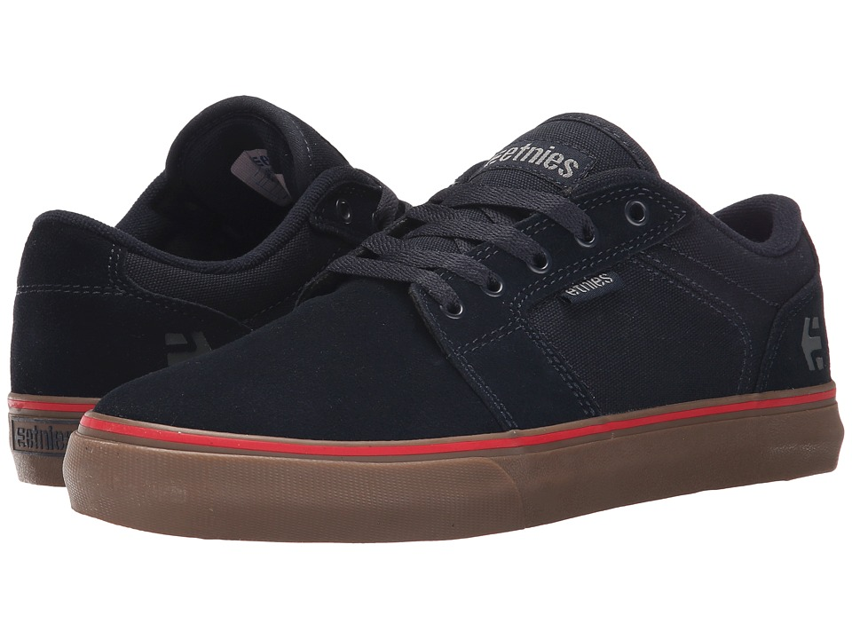 etnies - Barge LS (Navy/Navy/Gum) Men's Skate Shoes