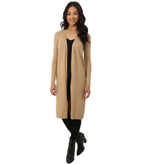 Vince Camuto - Ribbed Maxi Cardigan (Tan Heather) Women