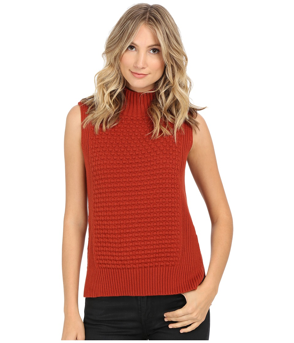 Vince Camuto - Mock Neck Bobble Stitch Sweater (70's Rust) Women's Sweater