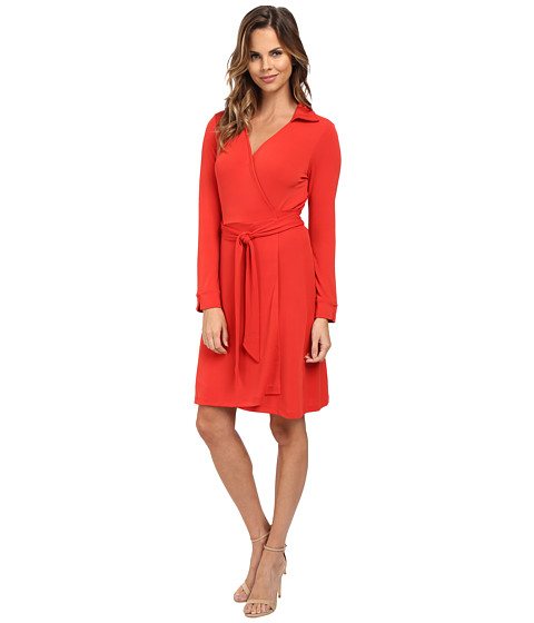 Vince Camuto - Collared Belted Wrap Dress (Pepper) Women's Dress