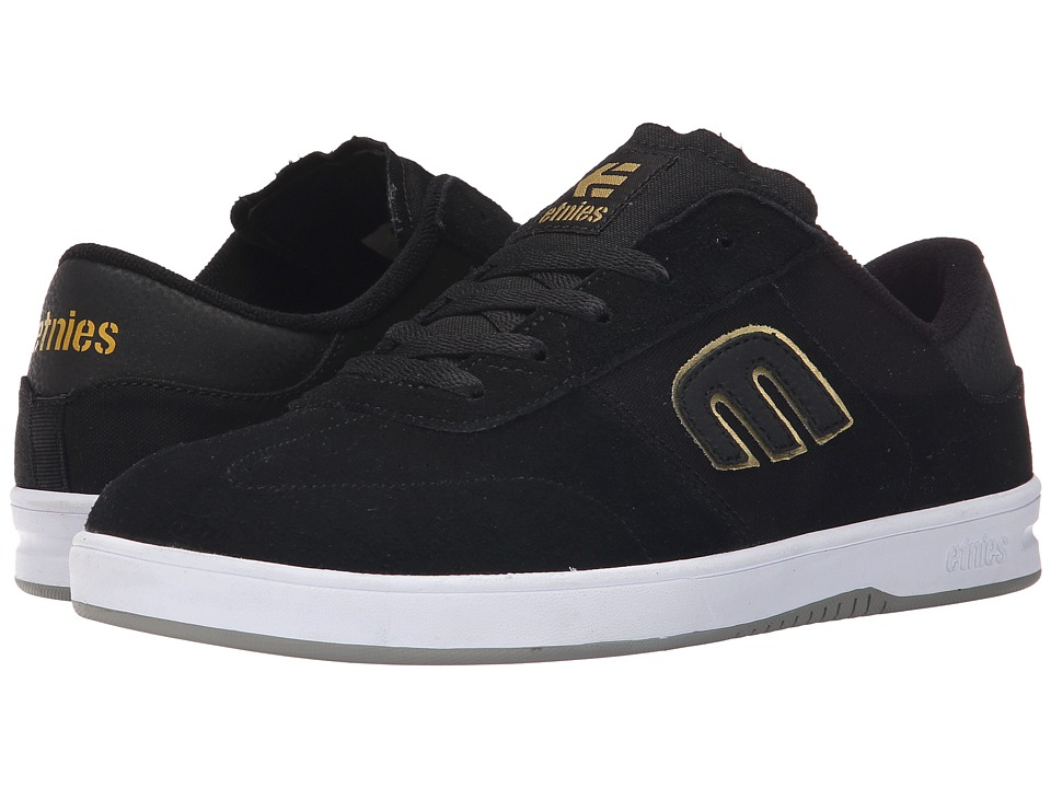 etnies - Lo-Cut (Black/Gold/Grey) Men's Skate Shoes