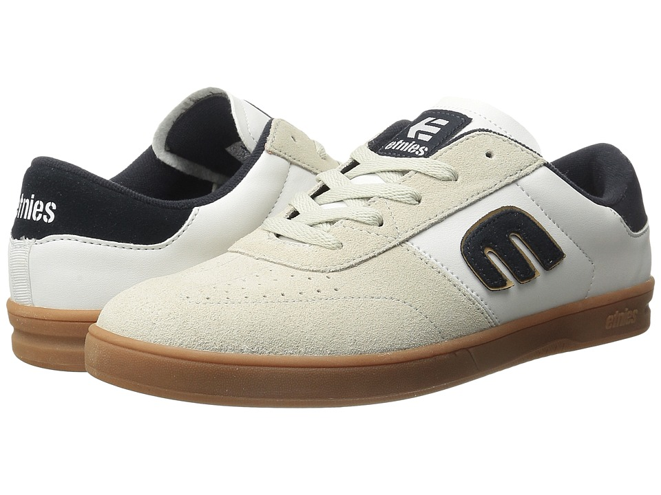 etnies - Lo-Cut (White/Navy/Gum) Men's Skate Shoes