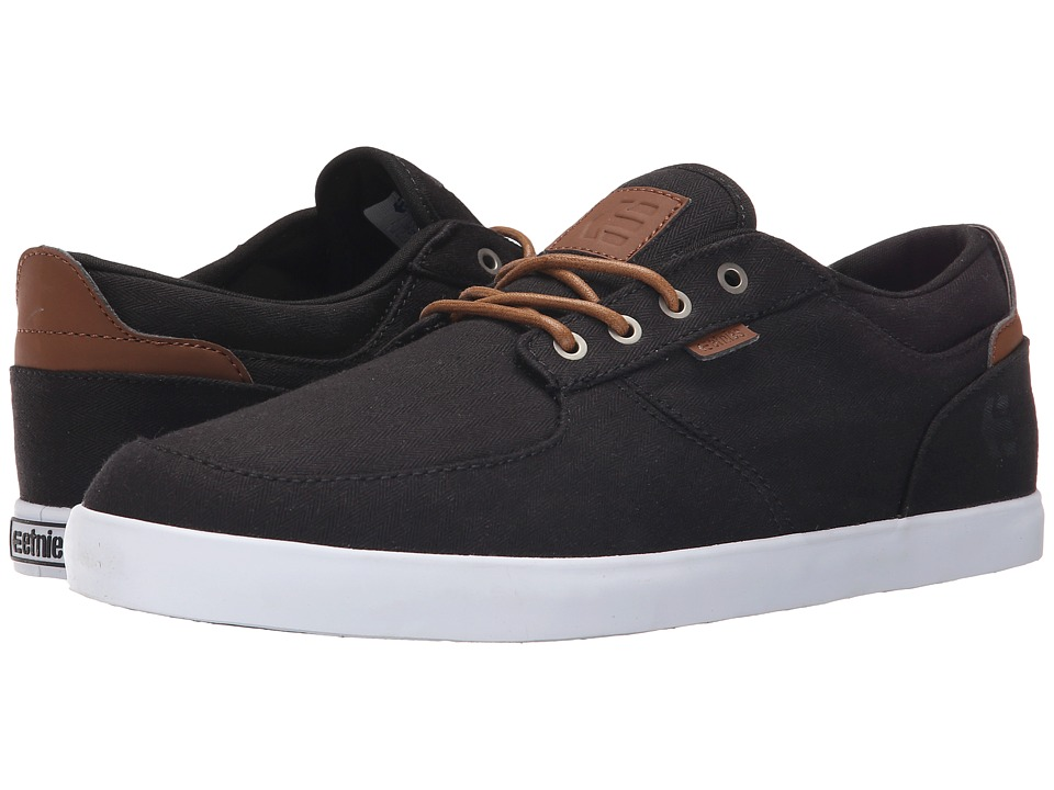 etnies - Hitch (Black/Brown) Men's Skate Shoes