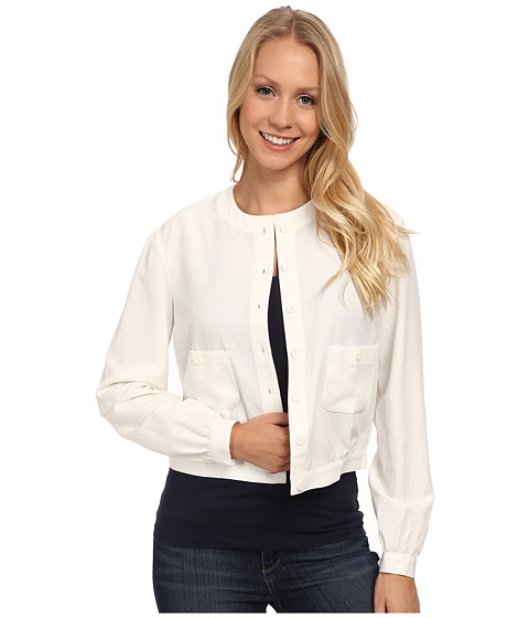 Anne Klein - Washed Linen Cropped Teddy (White) Women
