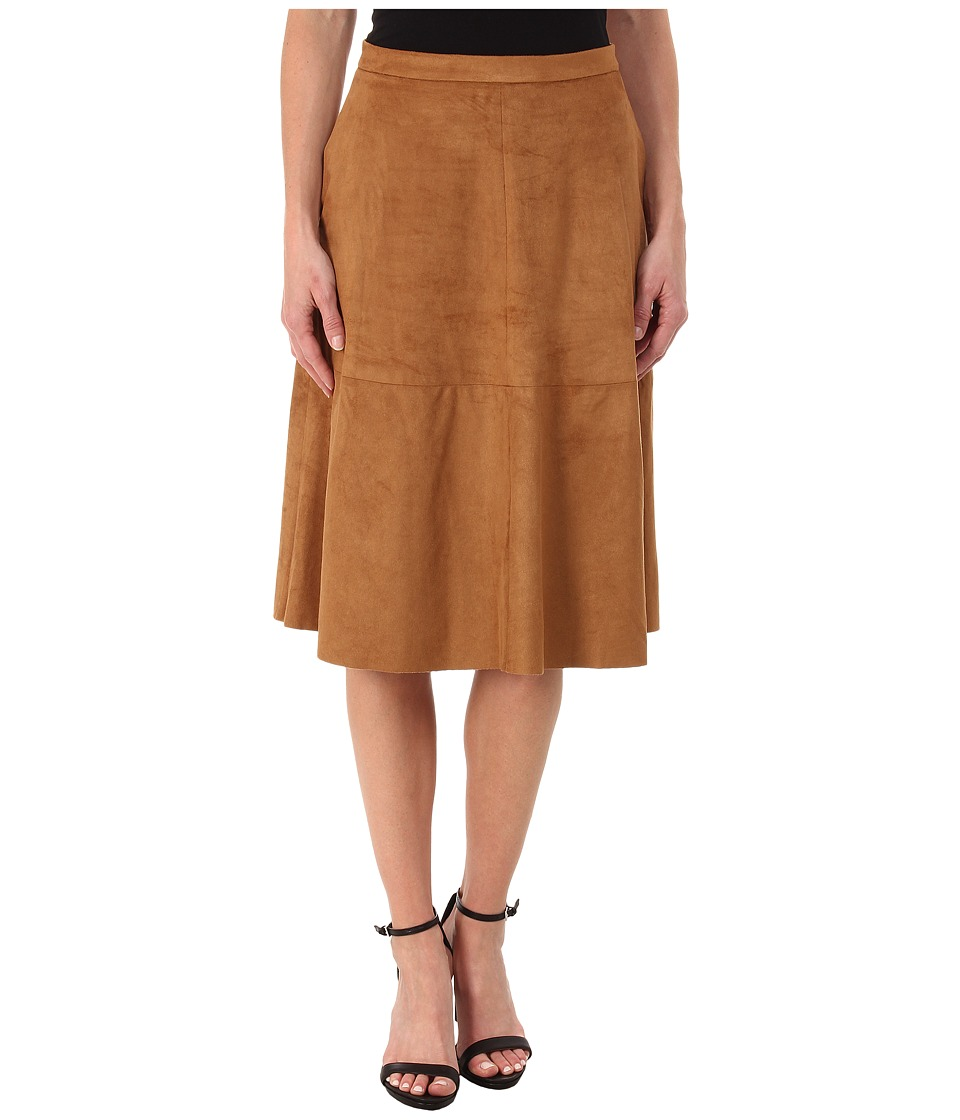 Vince Camuto - Faux Suede Midi Skirt (Cedar) Women's Skirt