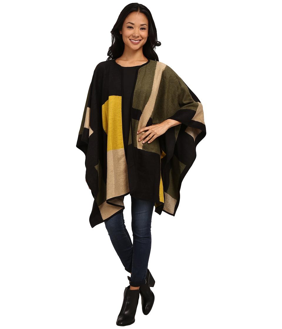 Vince Camuto - Blanket Jacquard Poncho (Dark Grove) Women's Coat