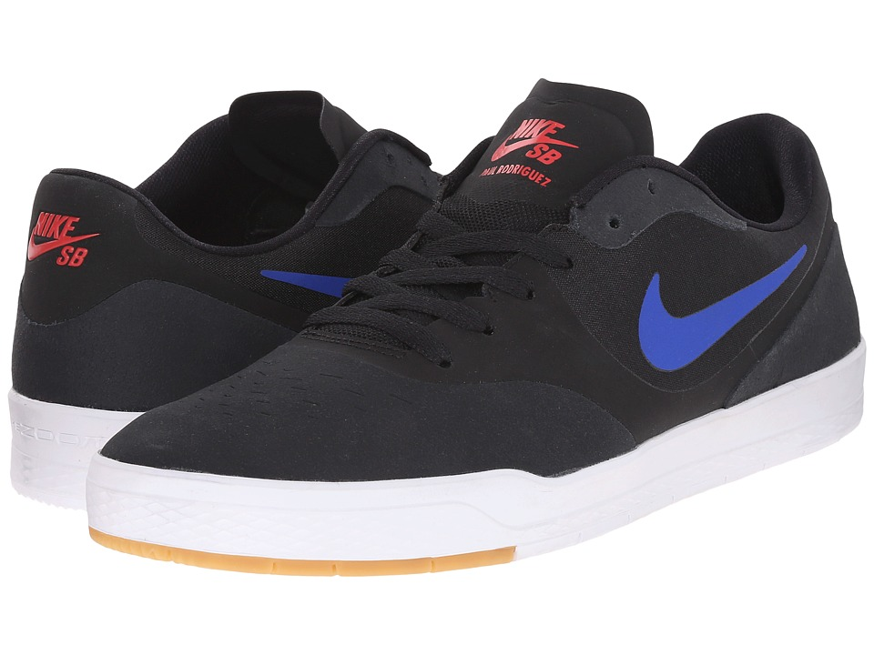 Nike SB - Paul Rodriguez 9 CS (Black/University Red/White/Game Royal) Men's Skate Shoes