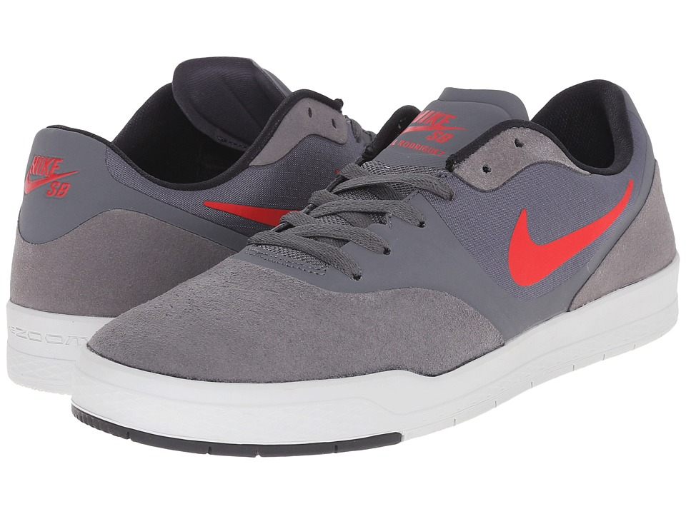 Nike SB - Paul Rodriguez 9 CS (Dark Grey/Black/Pure Platinum/University Red) Men's Skate Shoes