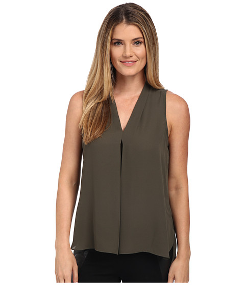 Vince Camuto - Blouse w/ Inverted Front Pleat (Dark Grove) Women's Blouse