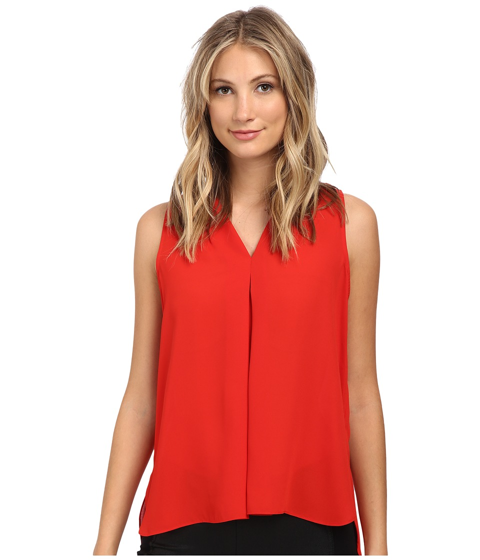 Vince Camuto - Blouse w/ Inverted Front Pleat (Pepper) Women's Blouse