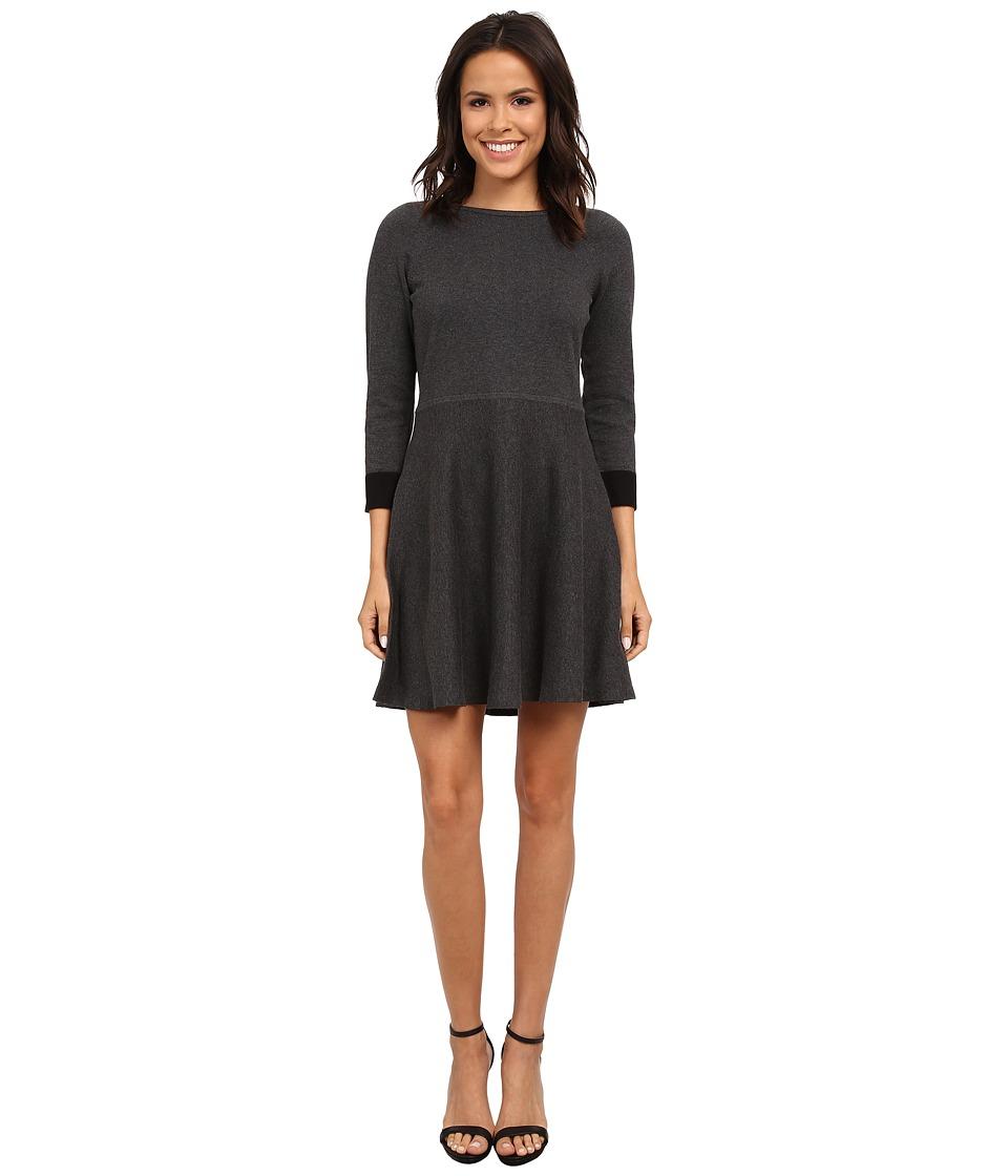 Vince Camuto - Flared Sweater Dress (Medium Heather Grey) Women