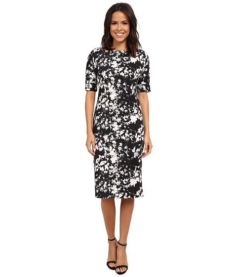 Vince Camuto - Bustling Floral Scuba Dress (Swan Grey) Women's Dress