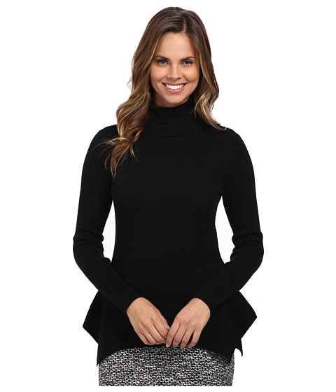 MICHAEL Michael Kors - Turtleneck Flare Hem Sweater (Black) Women's Sweater