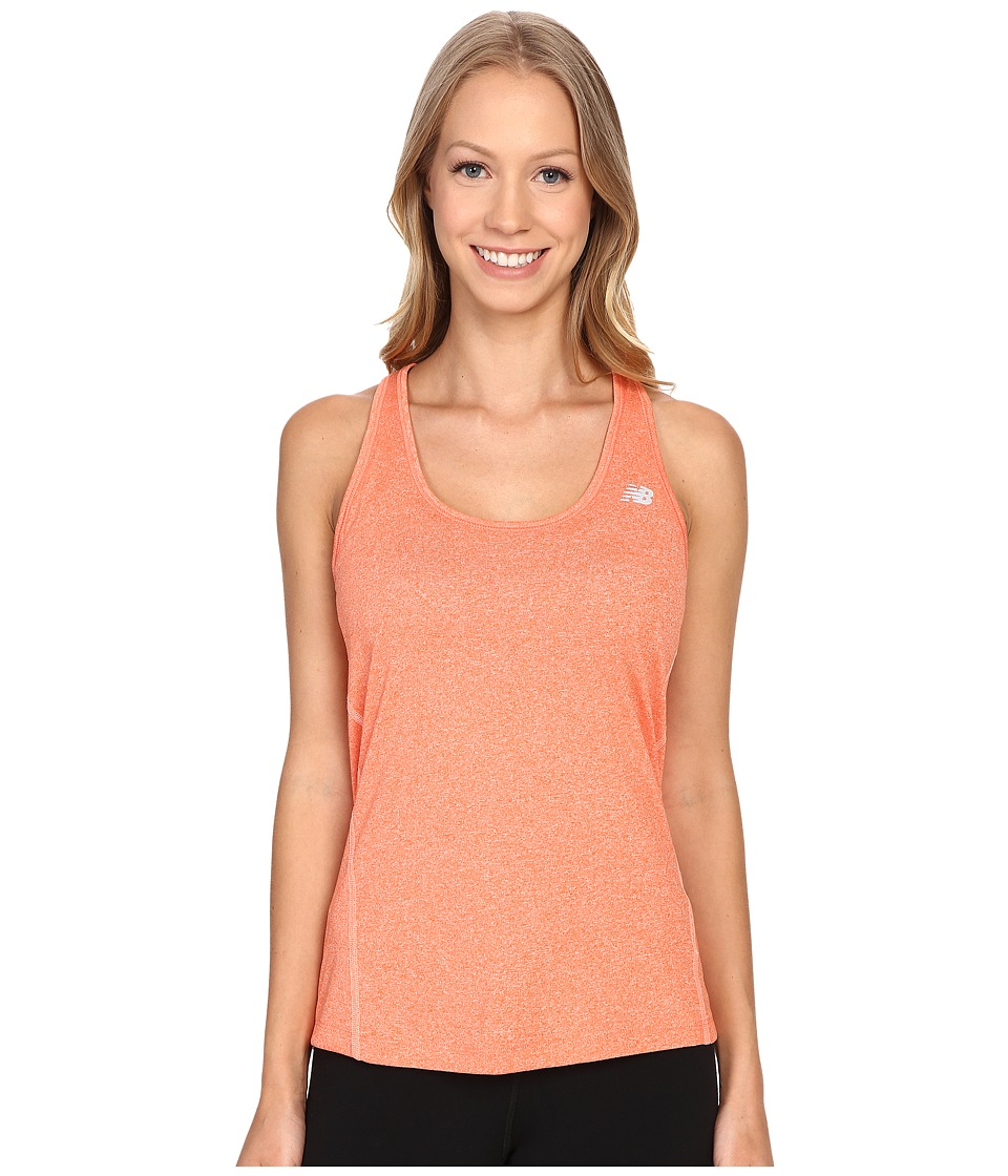 New Balance - Heathered Jersey Tank Top (Dragon Fly Heather) Women's Sleeveless