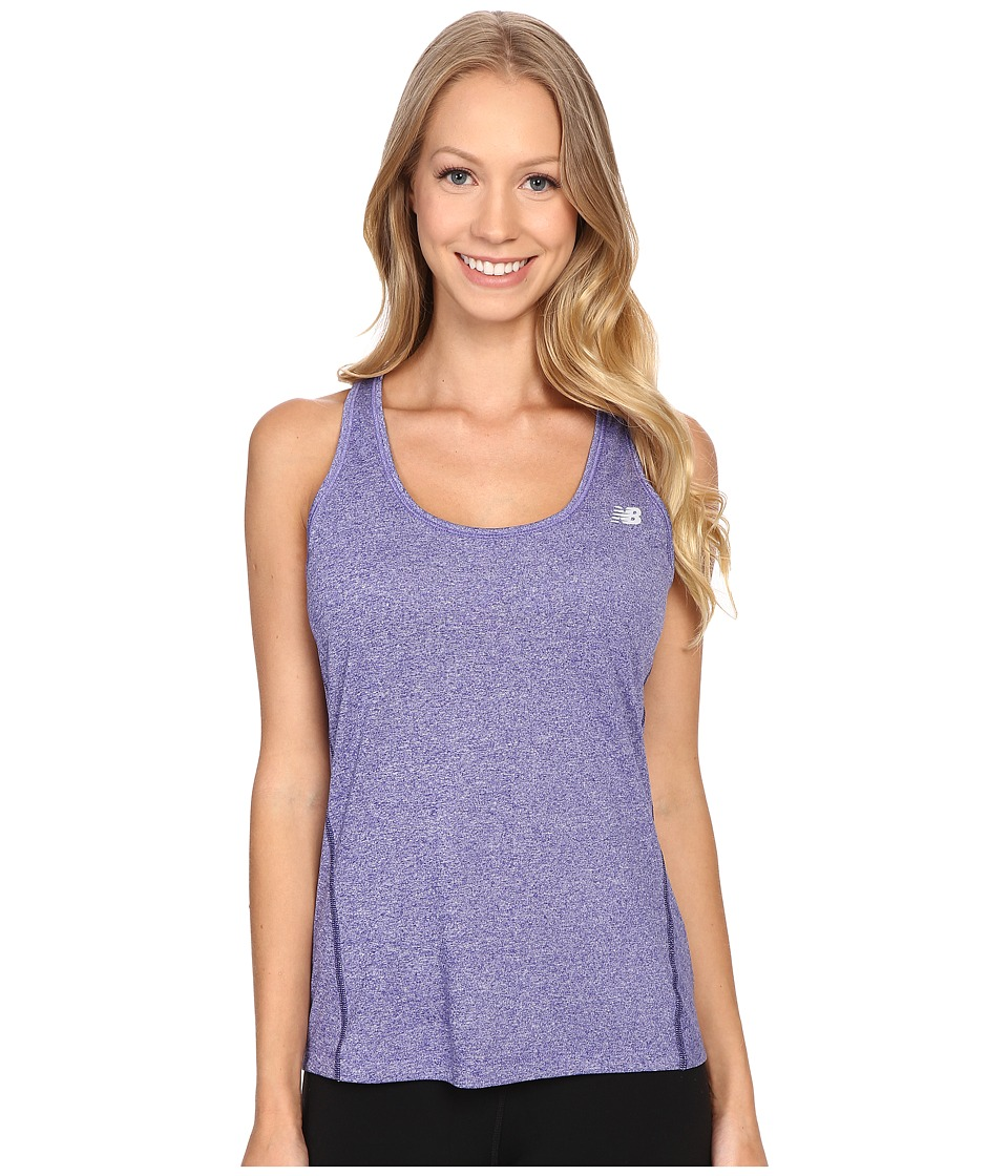 New Balance - Heathered Jersey Tank Top (Titan Heather) Women's Sleeveless