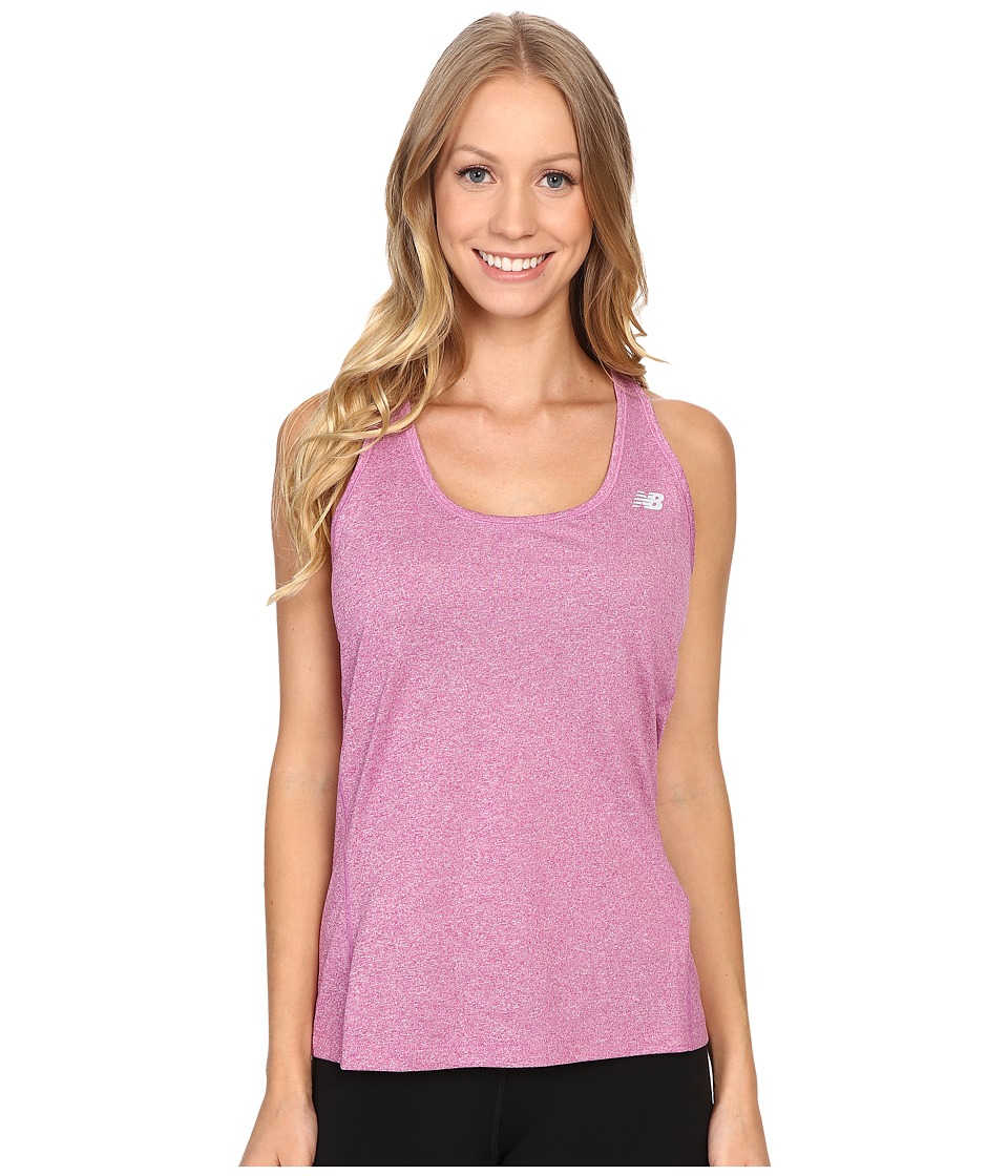 New Balance - Heathered Jersey Tank Top (Urchin Heather) Women's Sleeveless