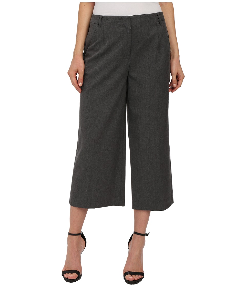 Vince Camuto - Zip Front Culottes (Dark Heather Grey) Women