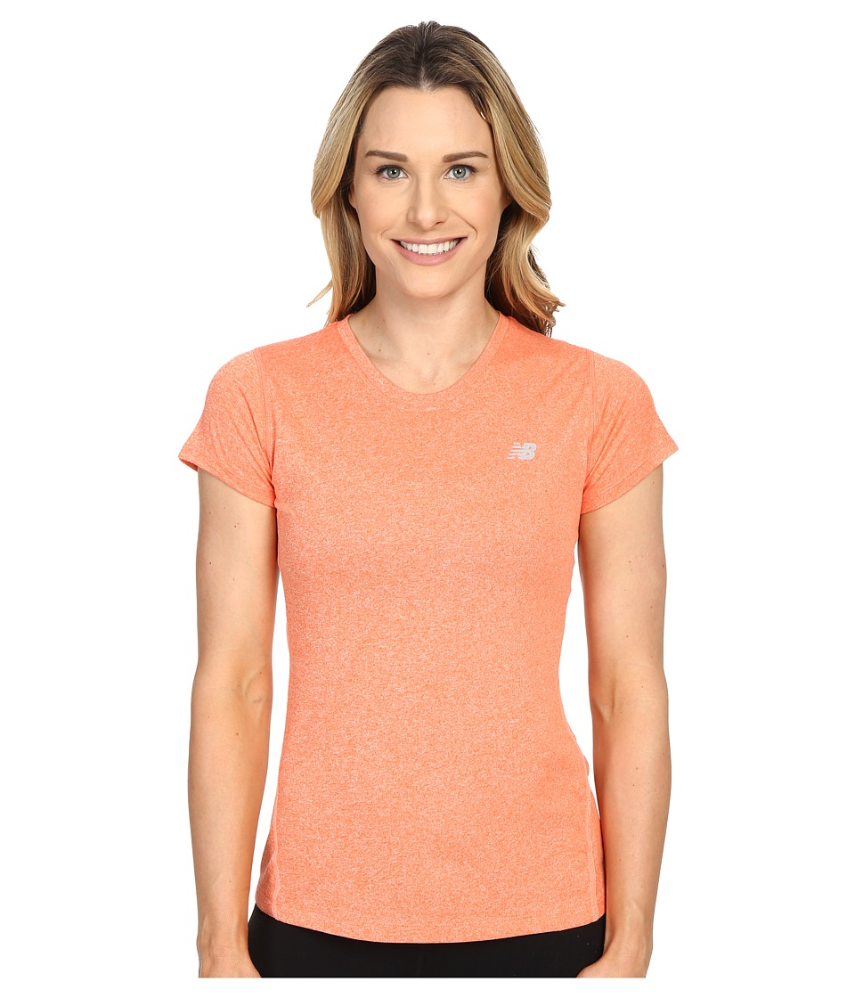 New Balance - Heathered Short Sleeve Tee (Dragon Fly Heather) Women's Short Sleeve Pullover