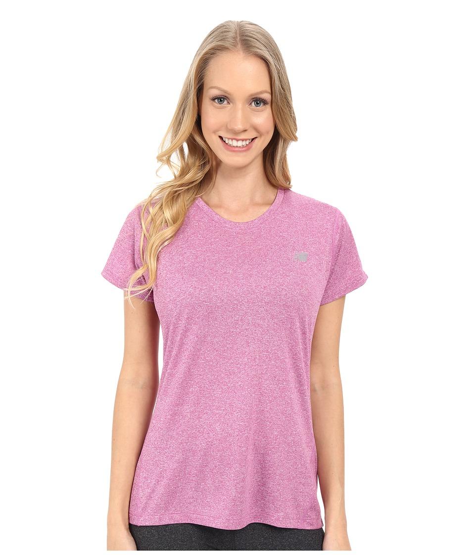 New Balance - Heathered Short Sleeve Tee (Urchin Heather) Women's Short Sleeve Pullover