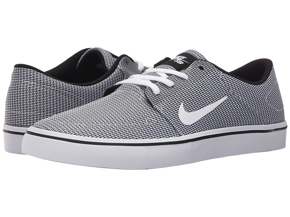 Nike SB Portmore Canvas Premium (Black/Black/White) Men