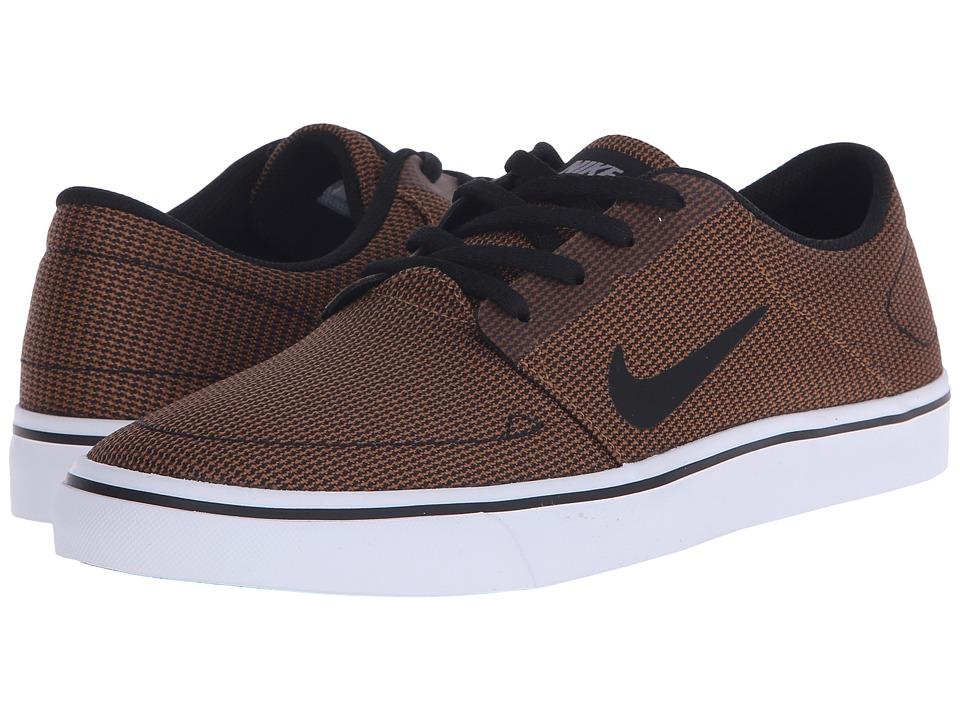 Nike SB - Portmore Canvas Premium (Ale Brown/White/Cool Grey/Black) Men's Skate Shoes
