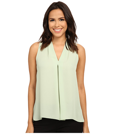 Vince Camuto - Blouse with Inverted Front Pleat (Smoke Green) Women's Blouse
