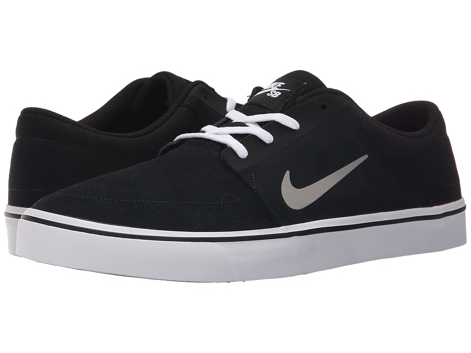 Nike SB - Portmore (Black/White/Gum Light Brown/Medium Grey) Men's Skate Shoes
