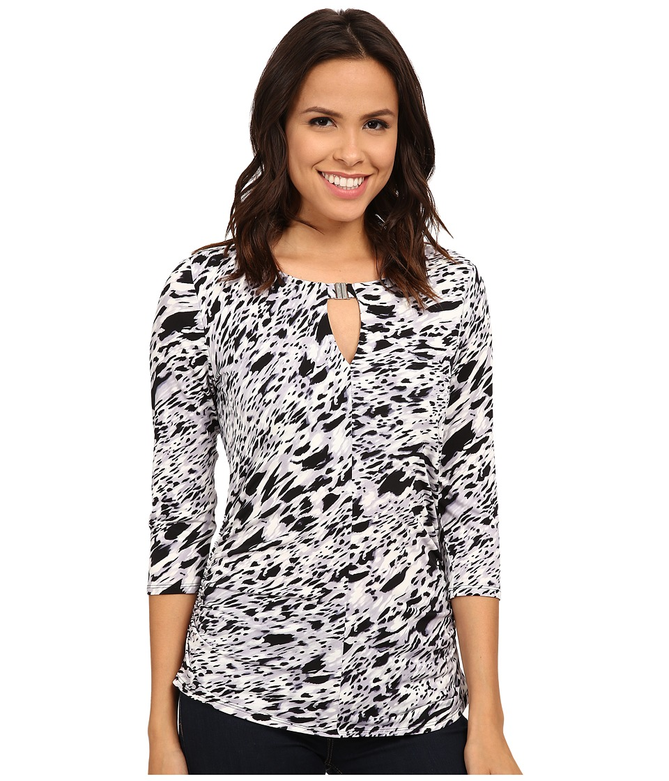 Vince Camuto - 3/4 Sleeve Medley Keyhole Top w/ Hardware (Purple Haze) Women's Clothing