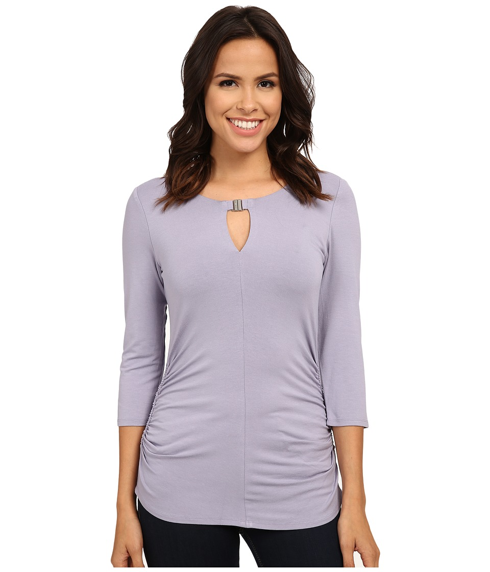Vince Camuto - 3/4 Sleeve Keyhole Top w/ Hardware (Purple Haze) Women's Clothing