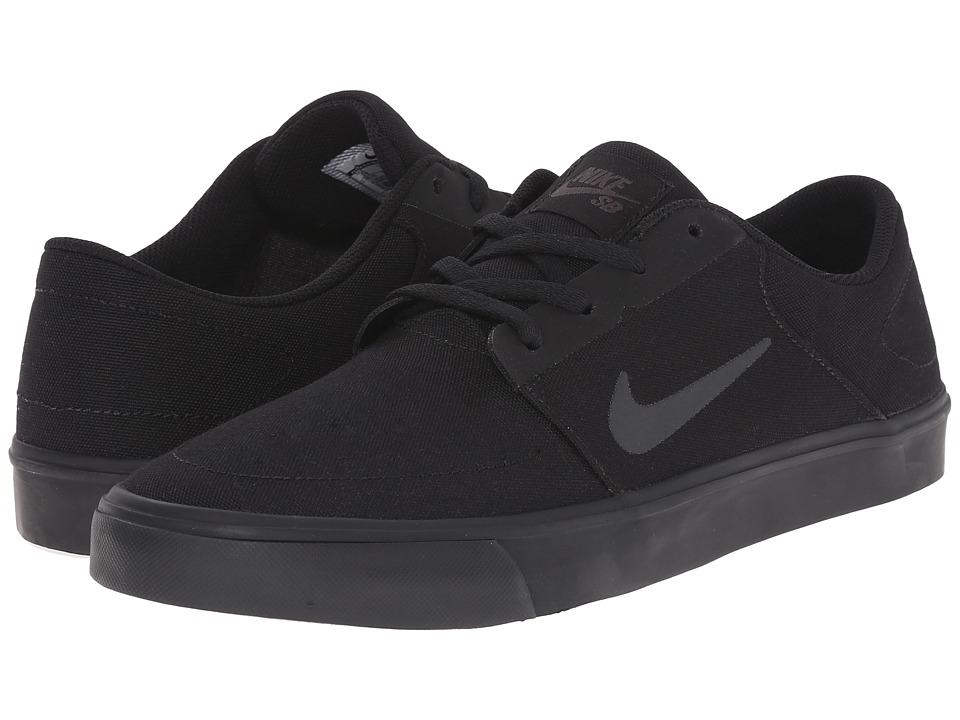 Nike SB - Portmore Canvas (Black/Anthracite) Men's Skate Shoes