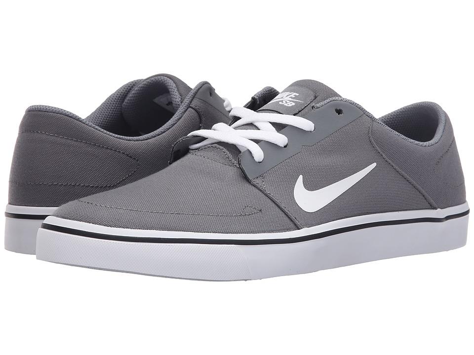 Nike SB - Portmore Canvas (Cool Grey/Black/White) Men's Skate Shoes