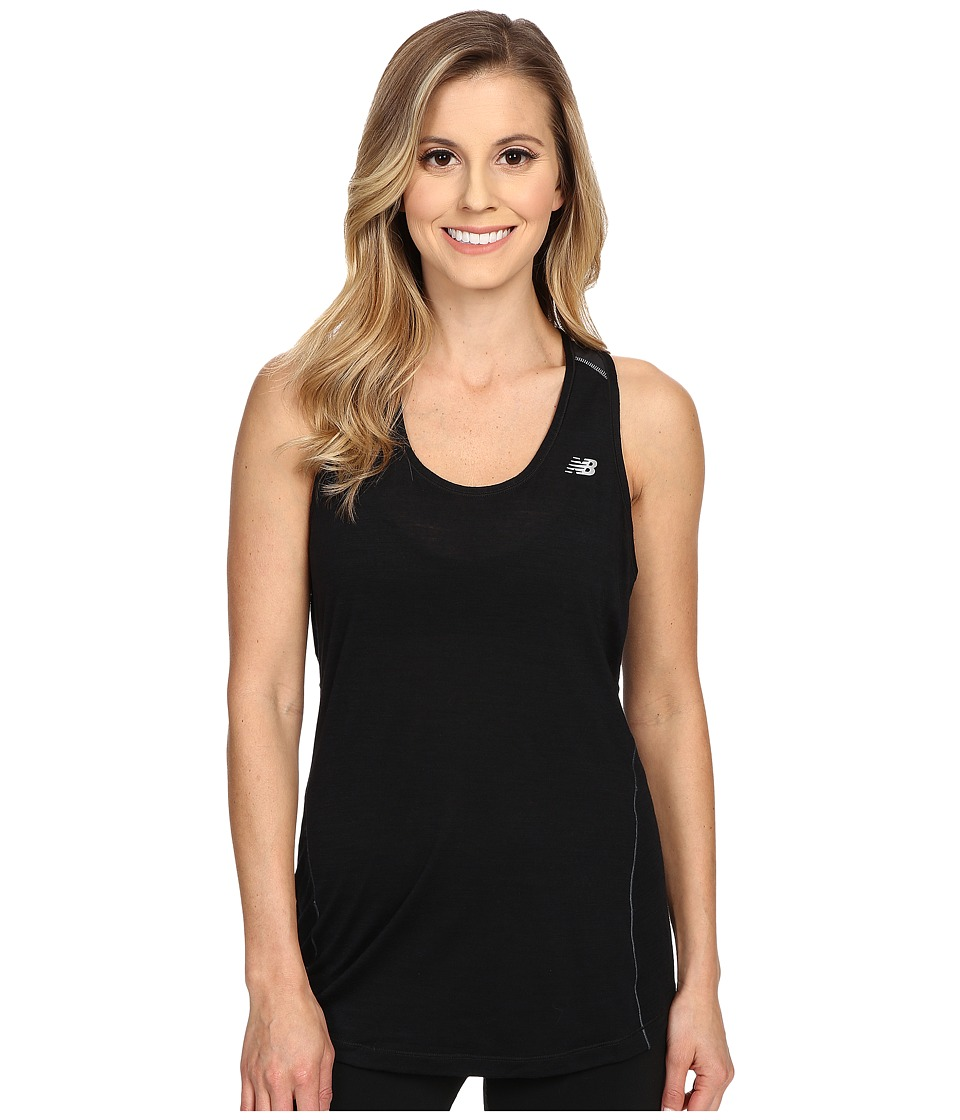 New Balance Performance Merino Tank Top (Black) Women