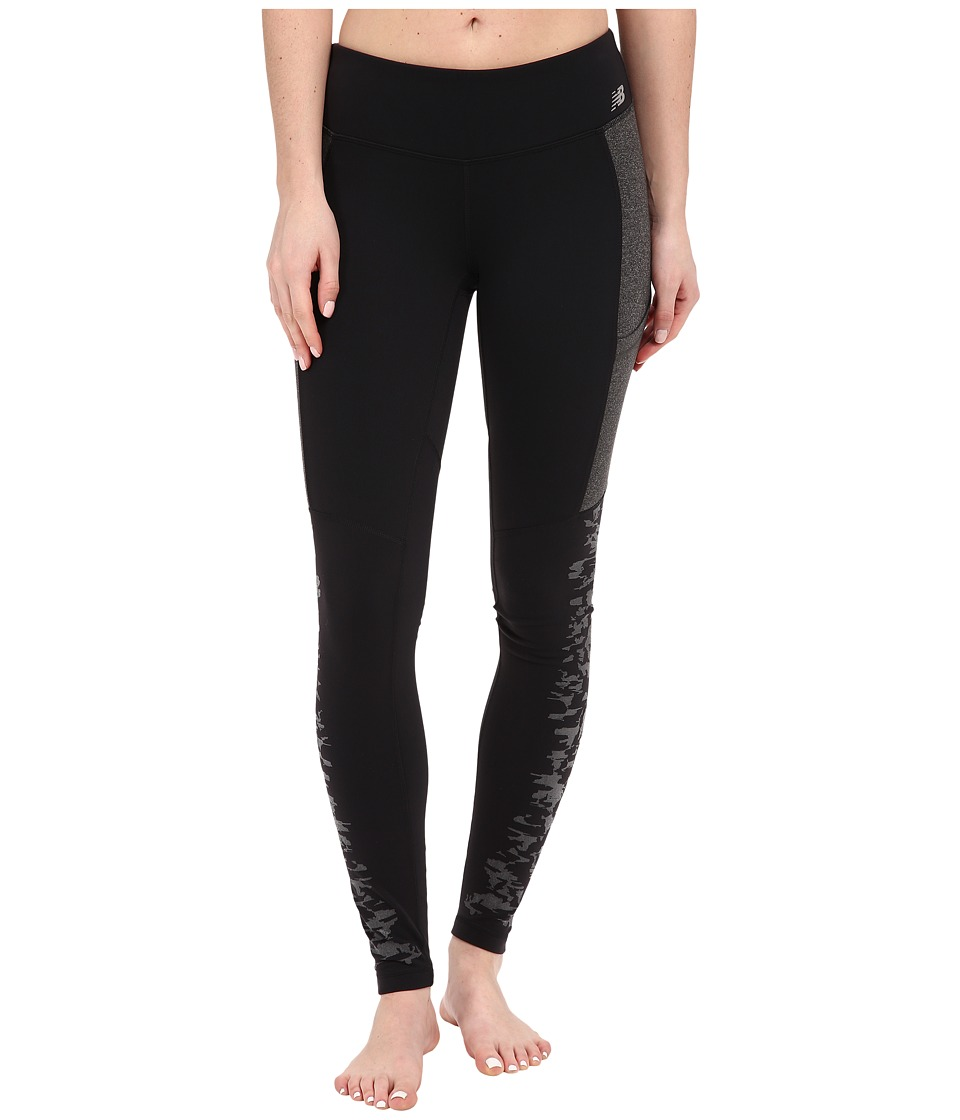 New Balance - Reflective Tights (Black) Women's Casual Pants