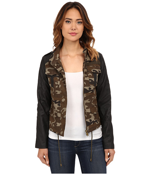 dollhouse - Zip Jacket w/ Snap Placket Inside Drawstring Waist (Camouflage) Women