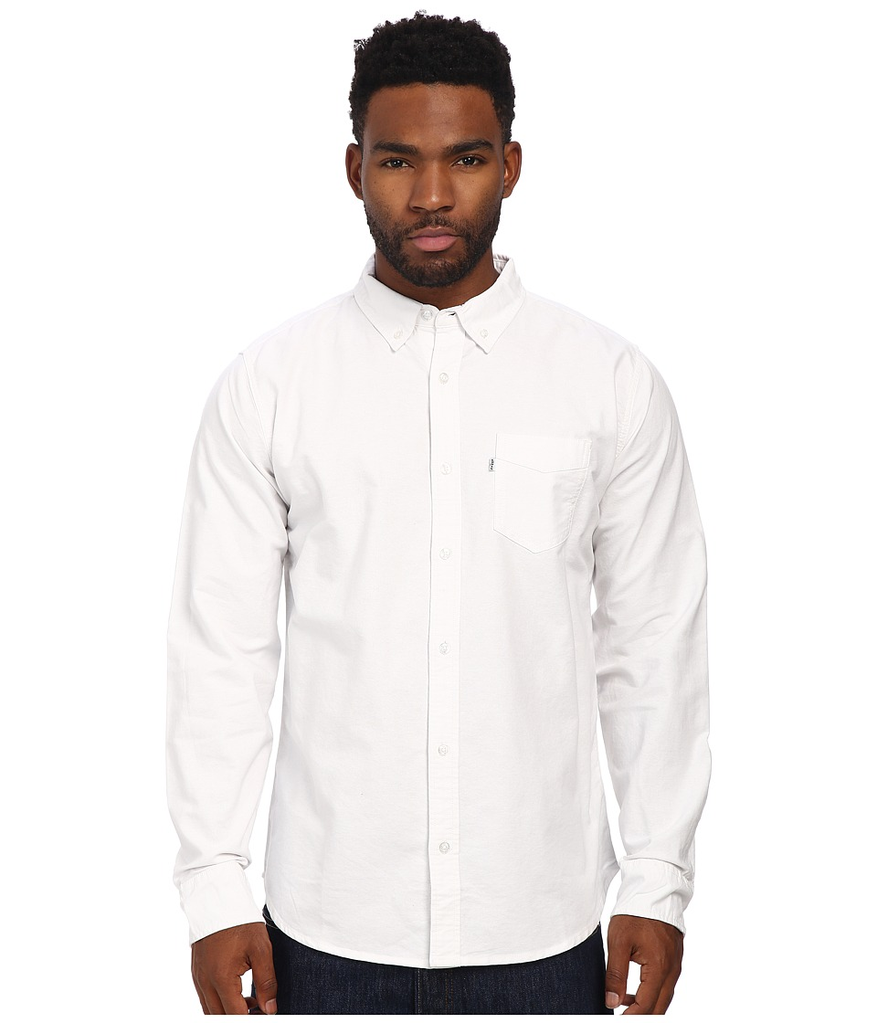 Levi's(r) - Clampert Worn In Oxford Long Sleeve Shirt (Bright White) Men's Long Sleeve Button Up