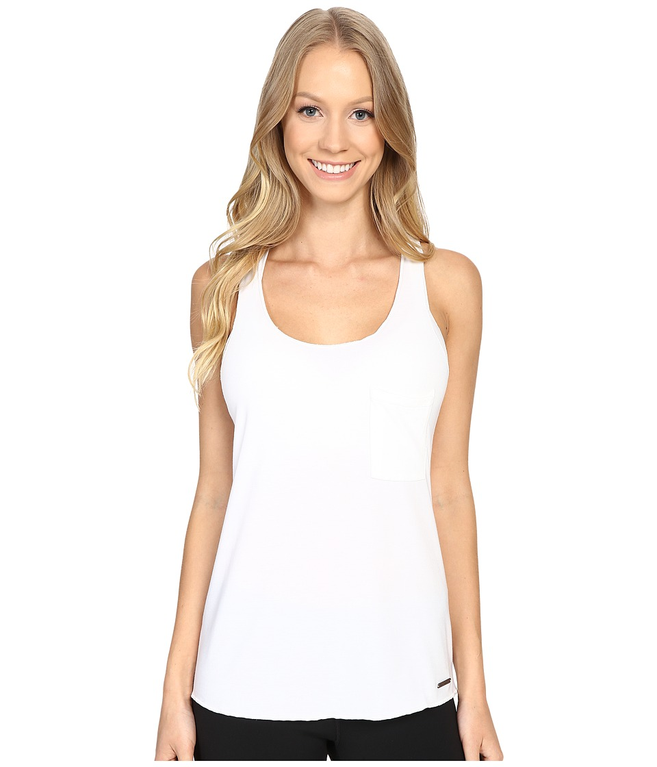 New Balance - Retreat Racerback Top (White) Women's Sleeveless