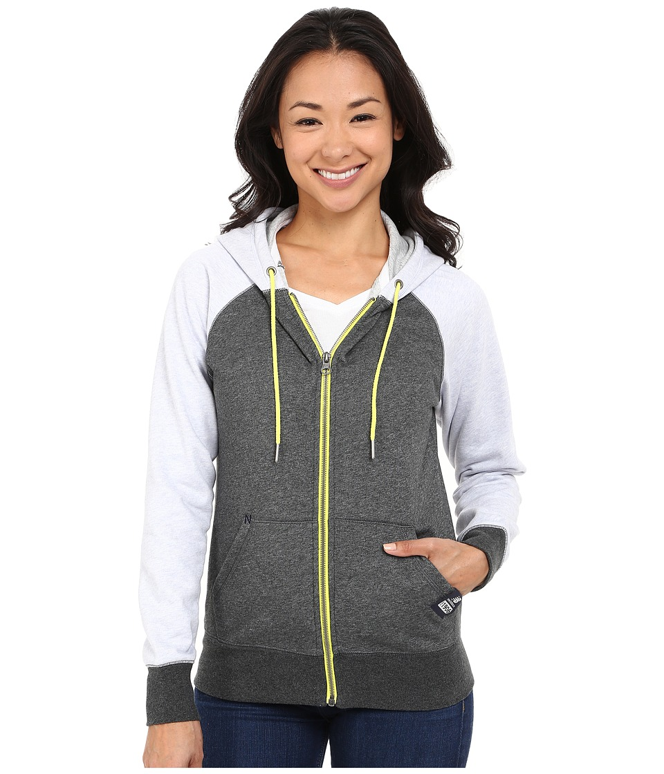 New Balance - Full Zip Fleece Hoodie (Heather Charcoal) Women's Sweatshirt