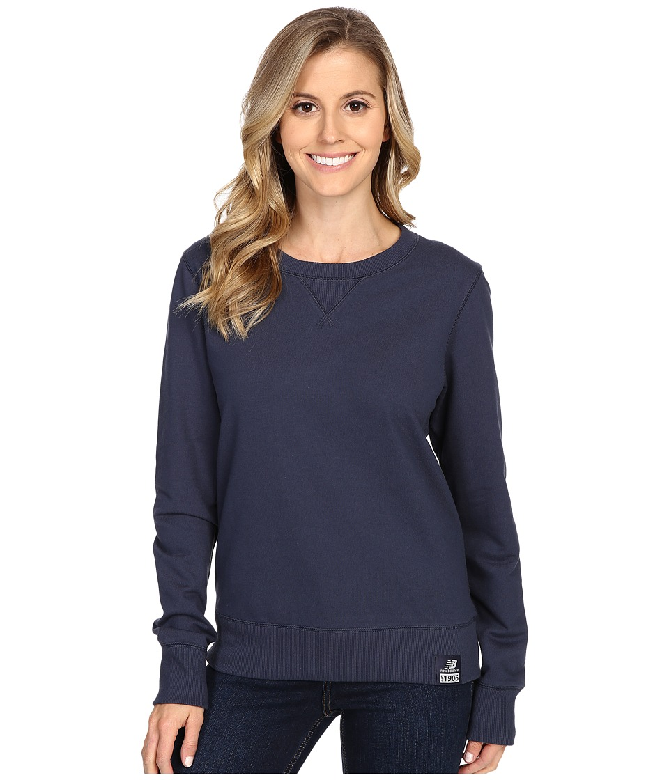 New Balance - Crew Neck Sweater (Navy) Women's Sweater