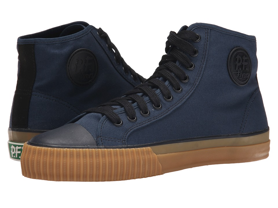 PF Flyers - Center Hi Retro Athletic (Navy) Men's Shoes