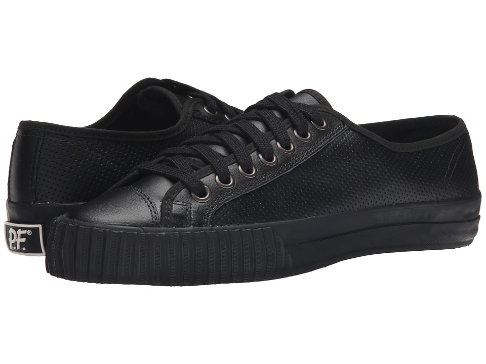 PF Flyers - Center Lo Leather Perf (Black) Men's Shoes