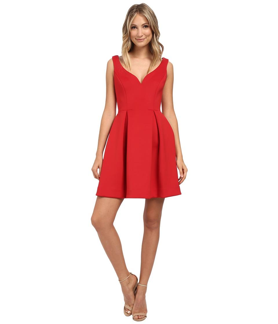 Donna Morgan - Sleeveless Scuba Fit Flare Dress (Cherry) Women's Dress