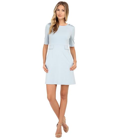Donna Morgan - Short Sleeve Ponte Shift Dress (Baby Blue) Women