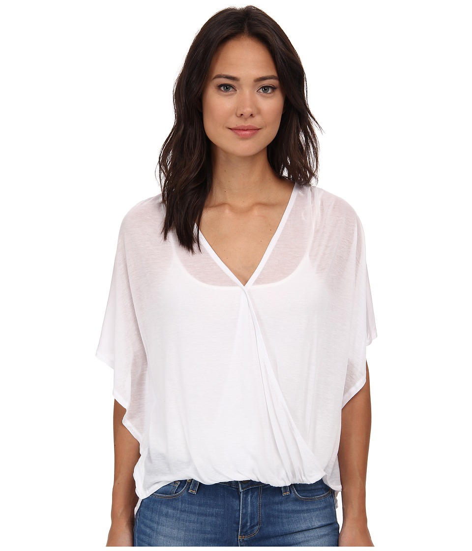 Culture Phit - Katie Butterfly Arm Top (White) Women's Clothing
