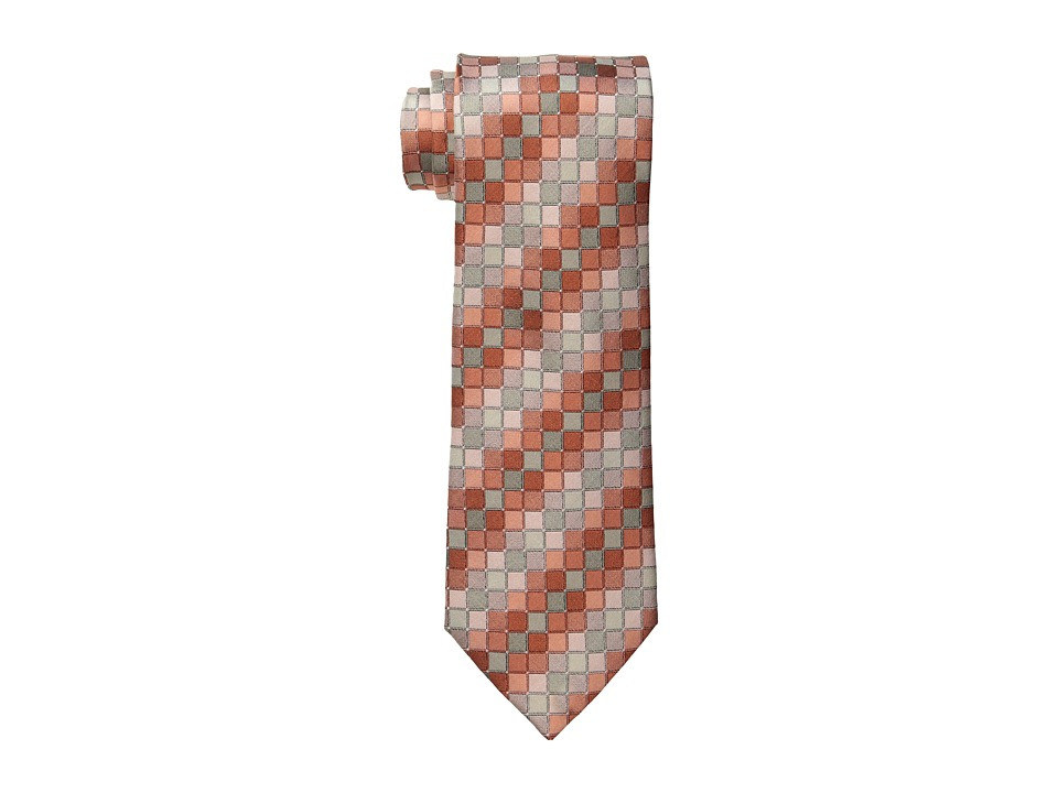 Kenneth Cole New York - Color Step Geo Tie (Melon) Ties