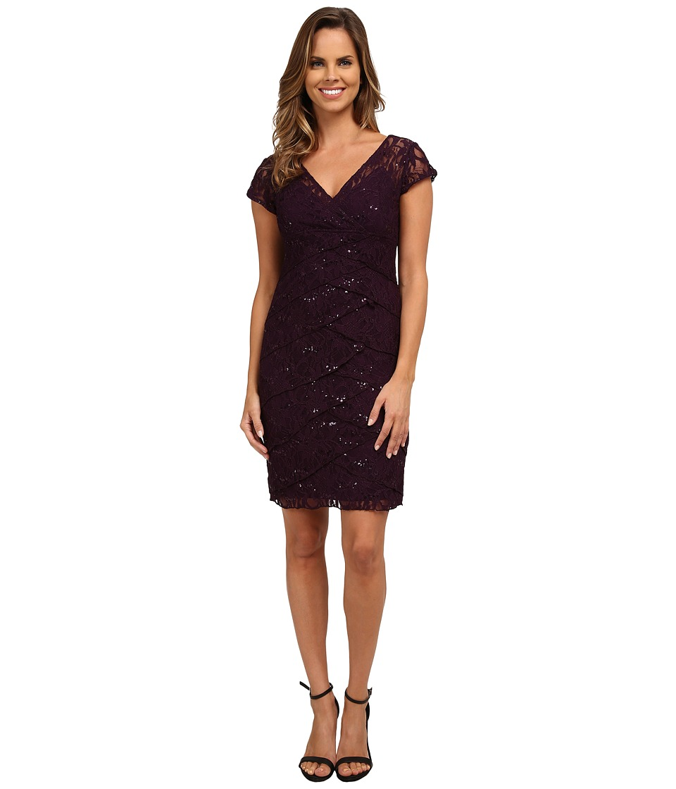 rsvp - Jade Ella Lace Dress (Eggplant) Women's Dress