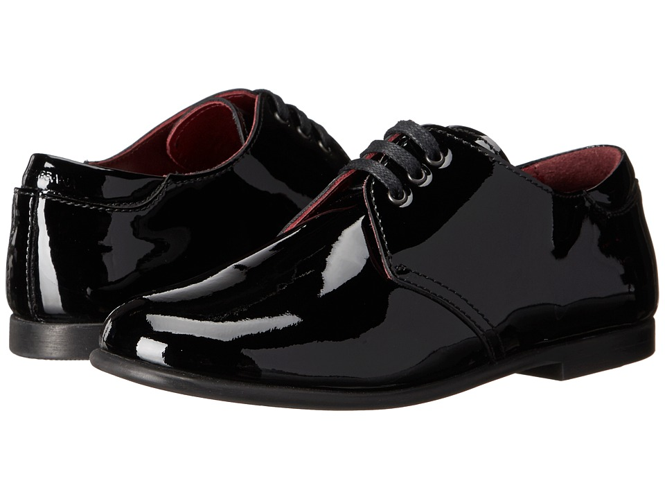 Dolce & Gabbana - Patent Oxford (Little Kid/Big Kid) (Black) Men
