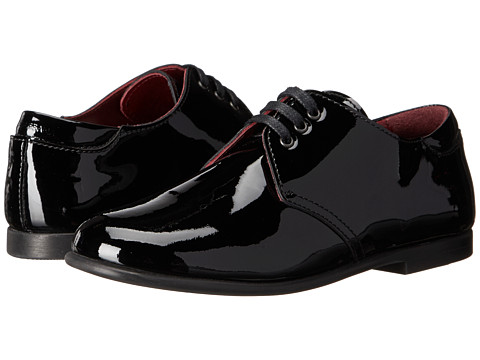Dolce & Gabbana - Patent Oxford (Little Kid/Big Kid) (Black) Men's Lace up casual Shoes