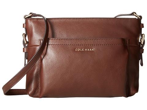 Cole Haan - Rockland Top Zip Crossbody (Chestnut) Cross Body Handbags